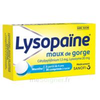 LysopaÏne Comprimés à Sucer Maux De Gorge Sans Sucre 2t/18 à SOUILLAC
