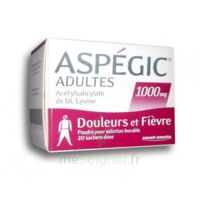 Aspegic Adultes 1000 Mg, Poudre Pour Solution Buvable En Sachet-dose 20 à SOUILLAC