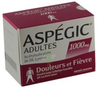 Aspegic Adultes 1000 Mg, Poudre Pour Solution Buvable En Sachet-dose 15 à SOUILLAC