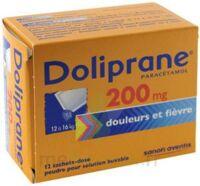 Doliprane 200 Mg Poudre Pour Solution Buvable En Sachet-dose B/12 à SOUILLAC