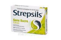 Strepsils Citron Sans Sucre, Pastille édulcorée à L'isomalt, Au Maltitol Et à La Saccharine Sodique à SOUILLAC