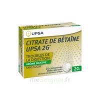 Citrate De Bétaïne Upsa 2 G Comprimés Effervescents Sans Sucre Menthe édulcoré à La Saccharine Sodique T/20 à SOUILLAC