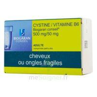 Cystine/vitamine B6 Biogaran Conseil 500 Mg/50 Mg Cpr Pell Plq/120 à SOUILLAC