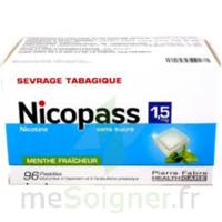 Nicopass 1,5 Mg Pastille Sans Sucre Menthe Fraîcheur Plq/96 à SOUILLAC