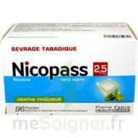 Nicopass 2,5 Mg Pastille Menthe Fraîcheur Sans Sucre Plq/96 à SOUILLAC
