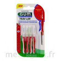 Gum Trav - Ler, 0,8 Mm, Manche Rouge , Blister 4 à SOUILLAC