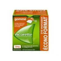 Nicorette 2 Mg Gomme à Mâcher Médicamenteuse Sans Sucre Fruits Plq/210 à SOUILLAC