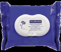 Klorane Soins Des Yeux Au Bleuet Lingette Démaquillante Biodégradable Pack/25 à SOUILLAC