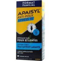 Apaisyl Anti-poux Xpress 15' Lotion Antipoux Et Lente 100ml+peigne à SOUILLAC