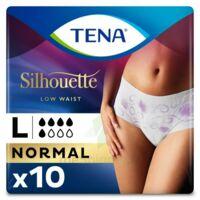 Tena Lady Silhouette Slip Absorbant Blanc Normal Large Paquet/10 à SOUILLAC