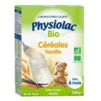 Physiolac Céréales Vanille Bio B/200g à SOUILLAC