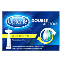 Optone Monodose Double Action Solution Oculaire Yeux Irrités B/10 à SOUILLAC